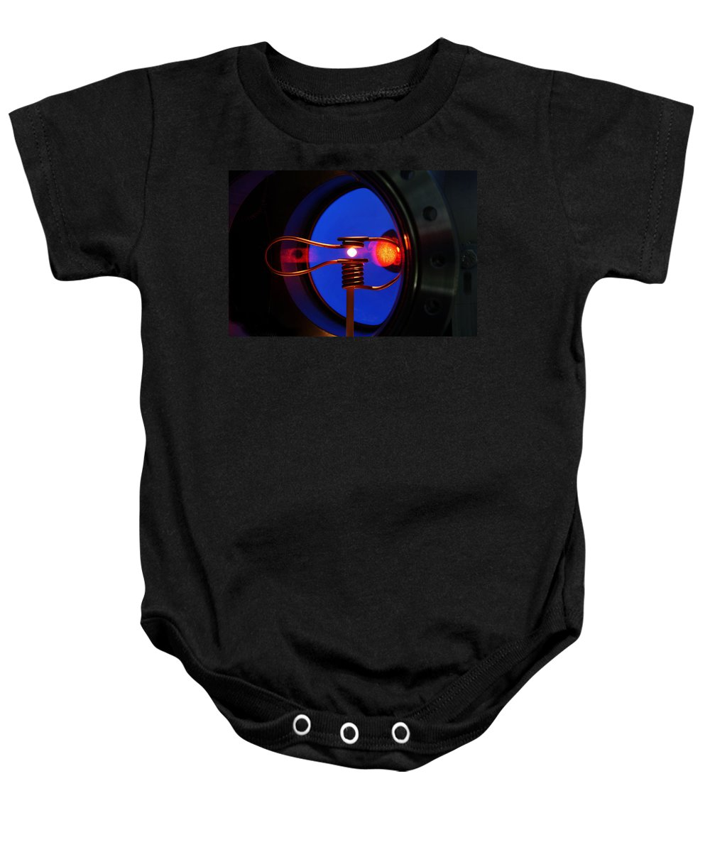 Space Baby Onesie featuring the photograph Weightless Molten Metal by Science Source