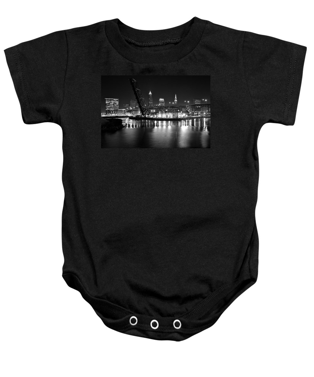 Desolate Baby Onesie featuring the photograph West Bank Of The Flats by Frozen in Time Fine Art Photography