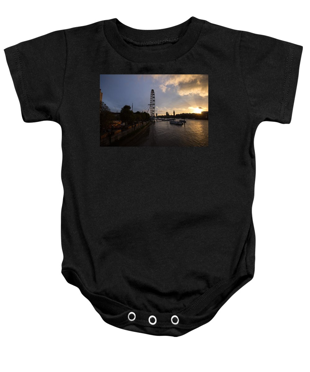 Westminster Baby Onesie featuring the photograph Westminster Sunset by Dawn OConnor