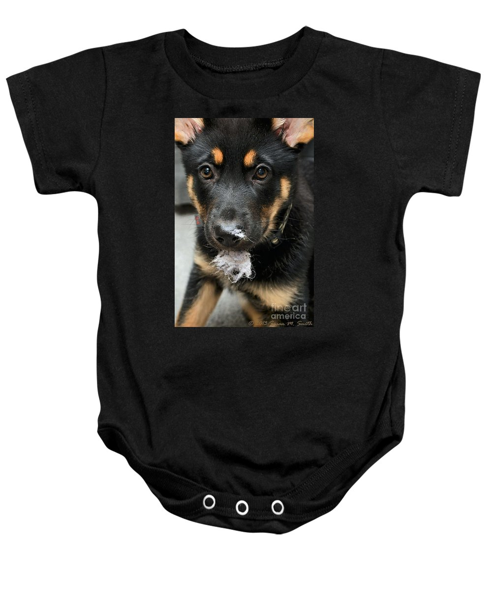 Photography Baby Onesie featuring the photograph What Trash Can by Susan Smith