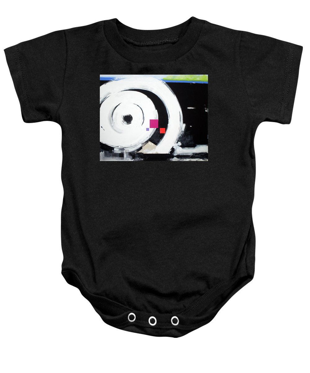 Abstract Baby Onesie featuring the painting Wheel Of Fortune by Jean Pierre Rousselet