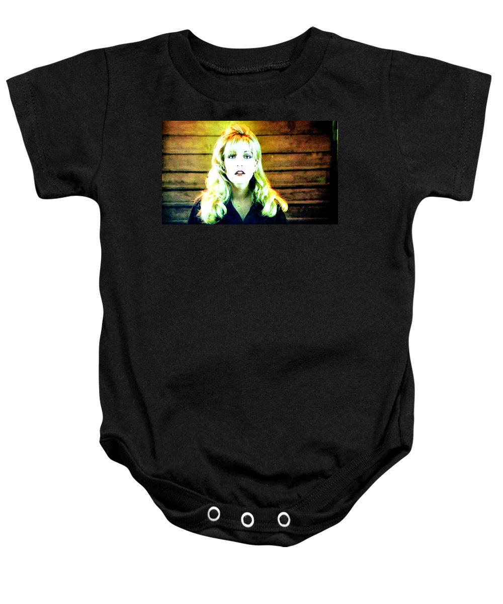 Laura Palmer Baby Onesie featuring the painting When All The World Seems To Sleep by Luis Ludzska
