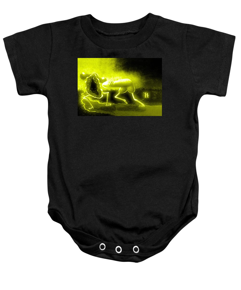 Genio Baby Onesie featuring the mixed media When Sun Embraces Love by Genio GgXpress