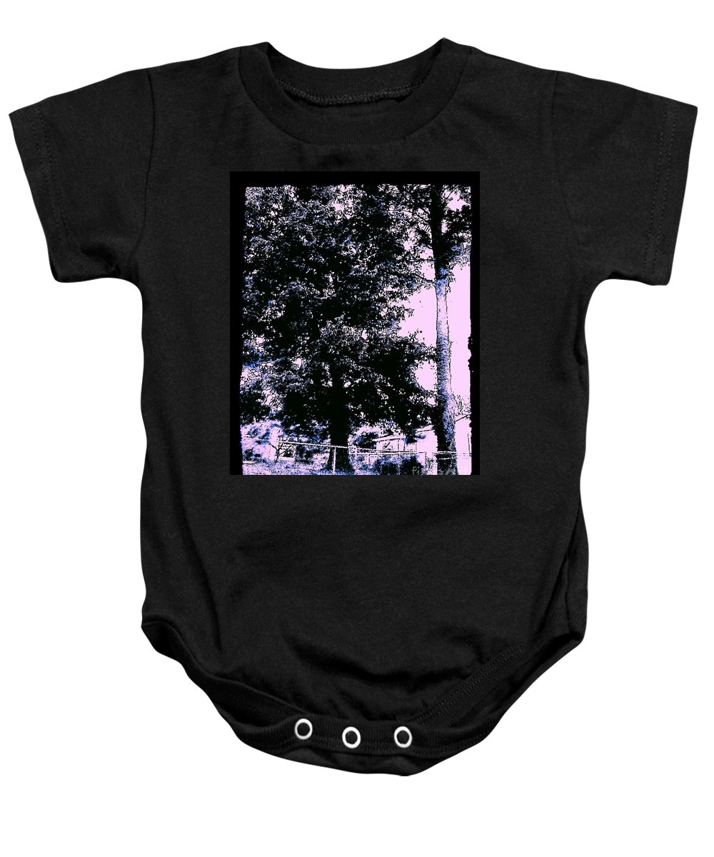 Trees Baby Onesie featuring the photograph Whimsy Timber by Heather Taylor