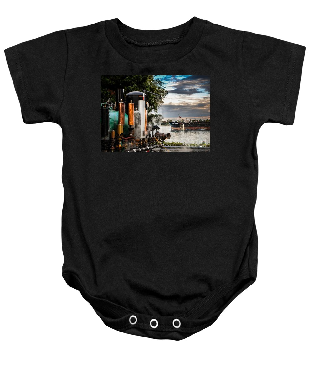 Whistles Baby Onesie featuring the photograph Whistles And Ship by Grace Grogan