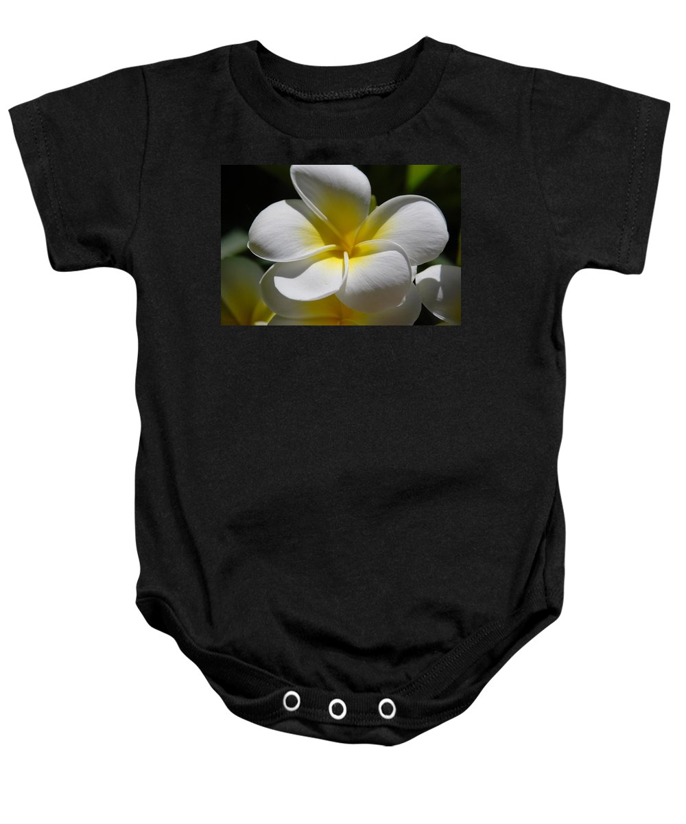 Nature Baby Onesie featuring the photograph White Bloom by Rob Hans