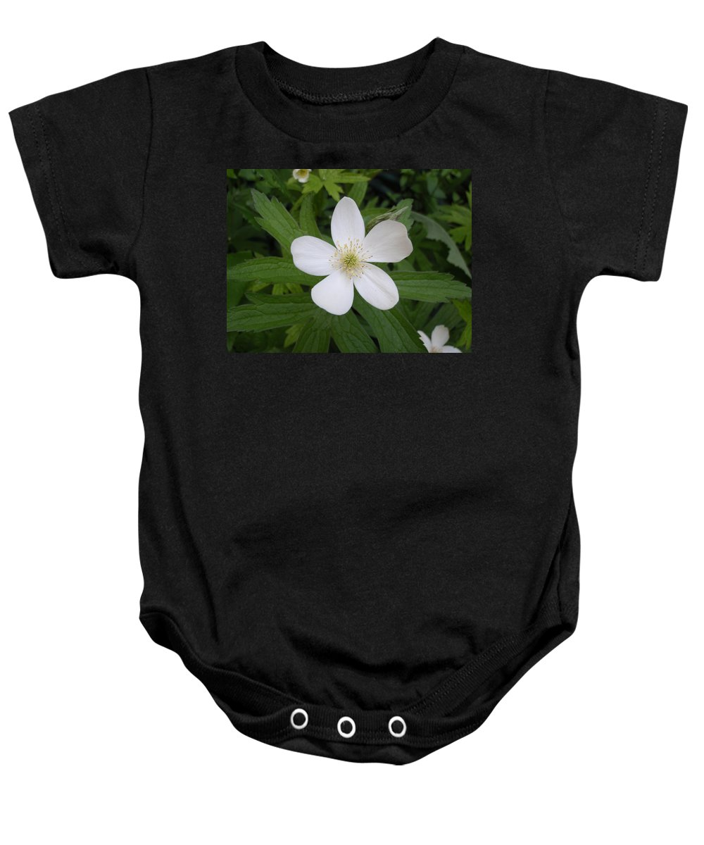 Flower Baby Onesie featuring the photograph White Flower by Jennifer Atherton