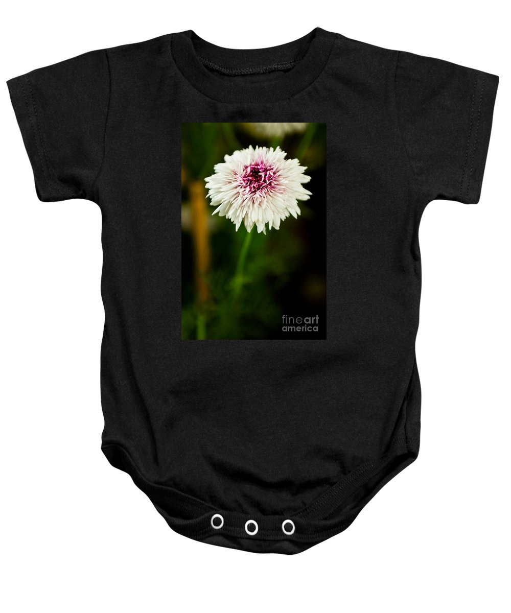 Flower Baby Onesie featuring the photograph White Mesh by Syed Aqueel