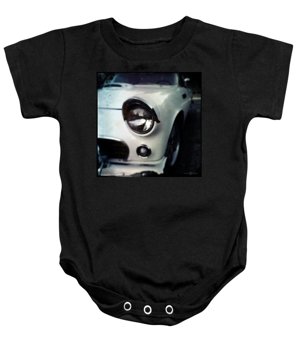 Classic Baby Onesie featuring the photograph White T-bird by Tim Nyberg
