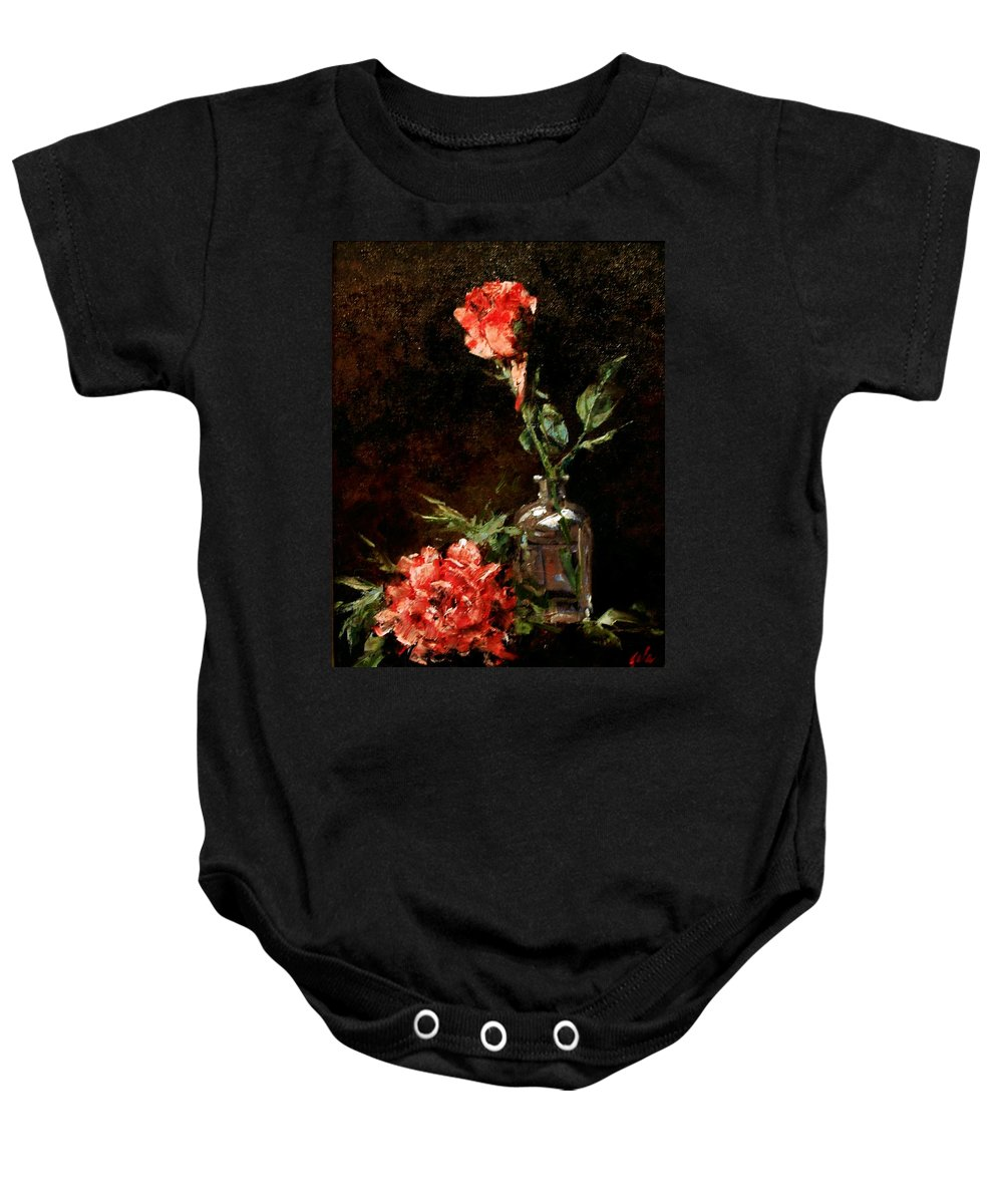 Floral Baby Onesie featuring the painting Wild Irish by Jim Gola