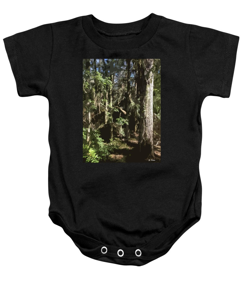 Wild Baby Onesie featuring the painting Wilderness by George Pedro