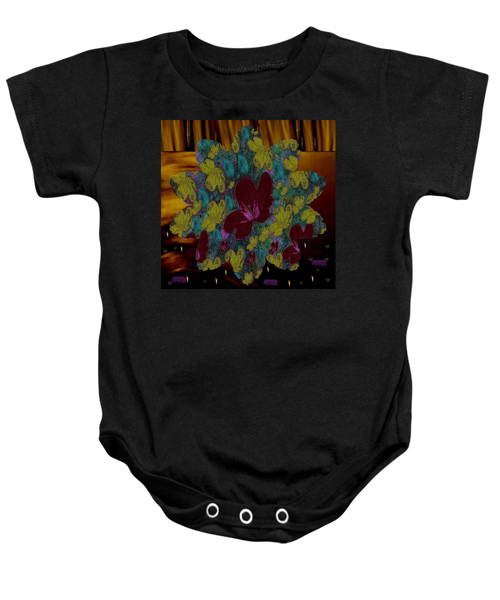 Landscape Baby Onesie featuring the mixed media Wildflower Into The Wilderness by Pepita Selles