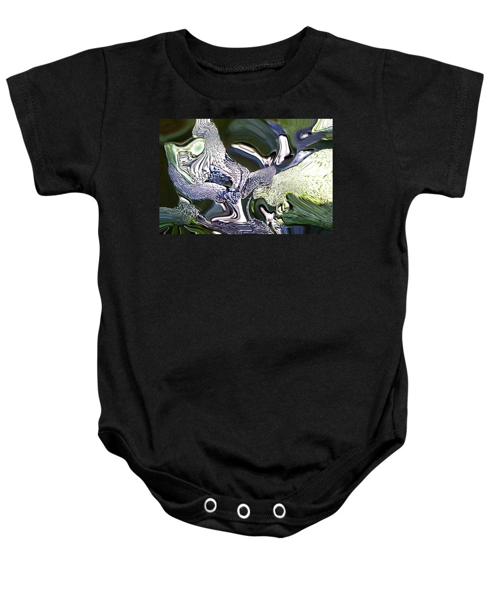 Abstract Baby Onesie featuring the digital art Wildwood by Richard Thomas