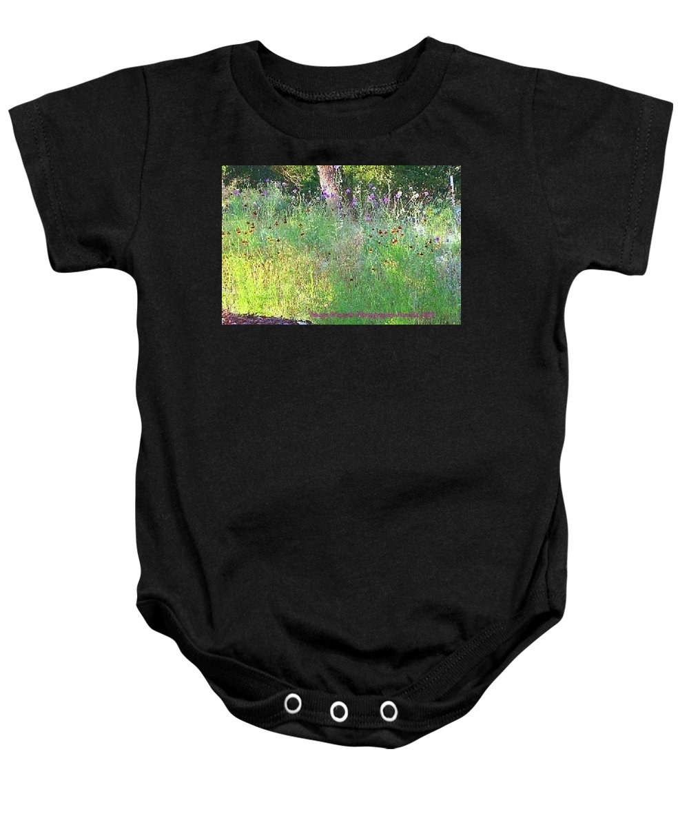 Hill Country Of Texas Baby Onesie featuring the photograph Wimberly Wildflowers by Pamela Smale Williams
