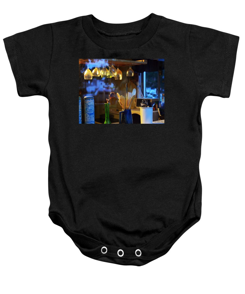 2d Baby Onesie featuring the photograph Window To My Kitchen by Brian Wallace
