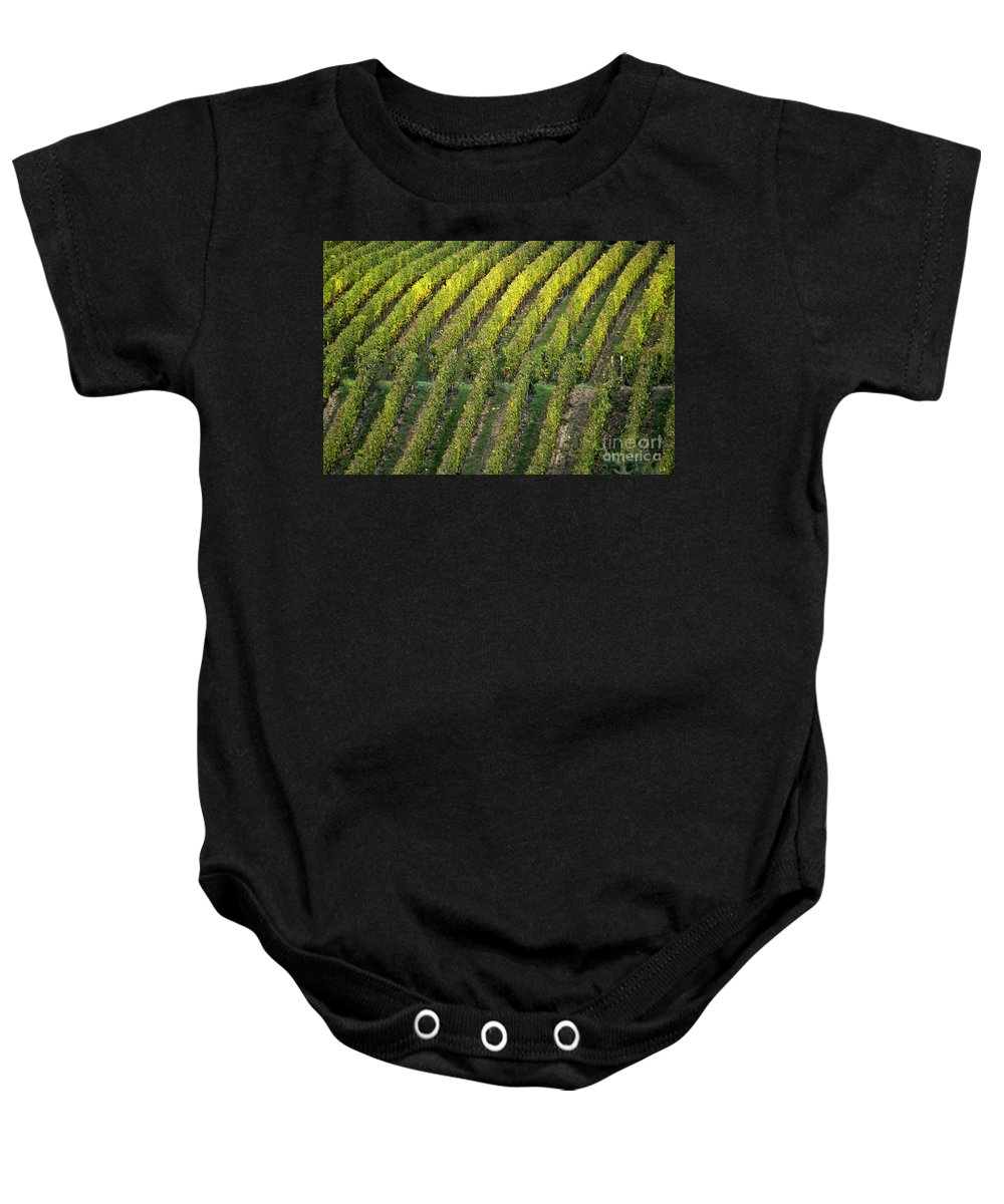 Heiko Baby Onesie featuring the photograph Wine Acreage In Germany by Heiko Koehrer-Wagner