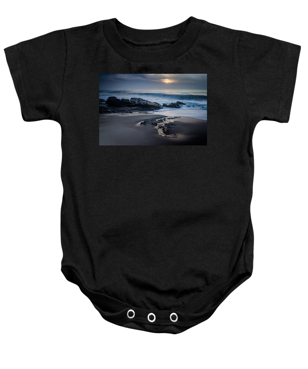 Sunset Baby Onesie featuring the photograph Winter Arriving by Ernesto Santos