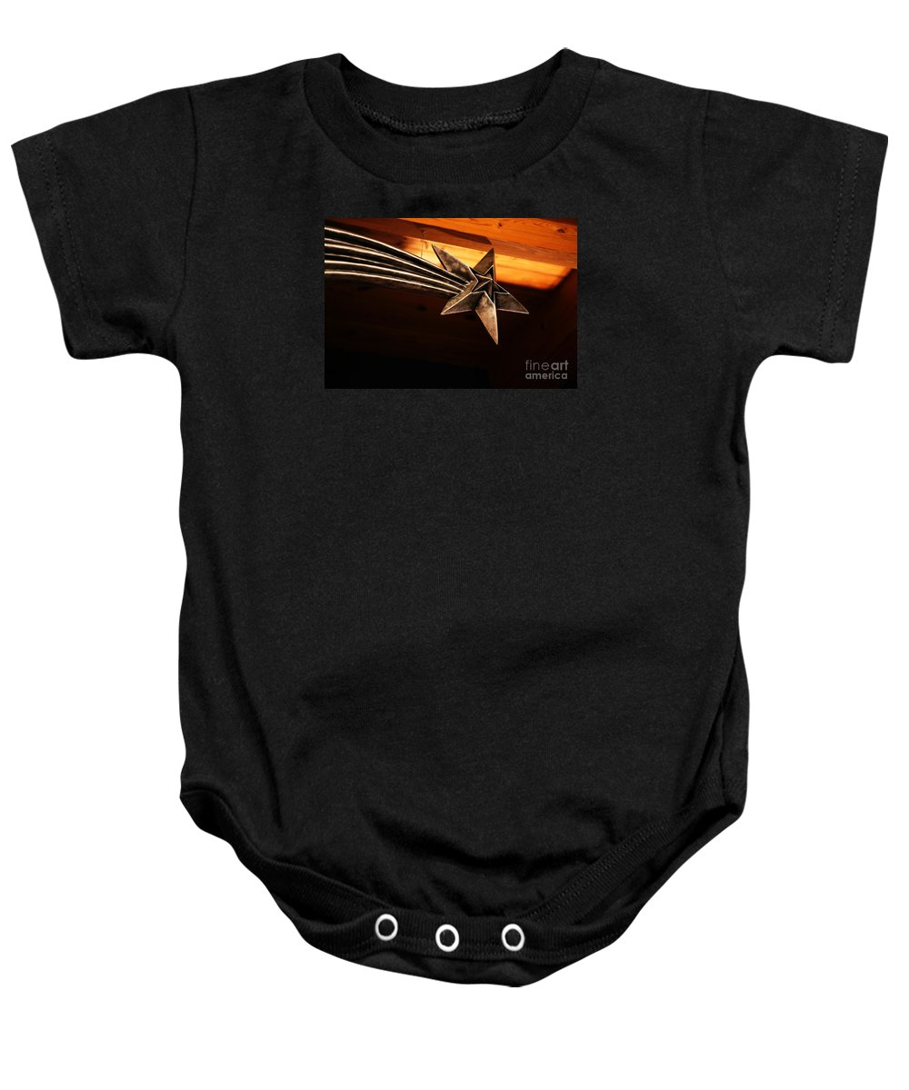 Star Baby Onesie featuring the photograph Wish Upon A Shooting Star by Linda Shafer