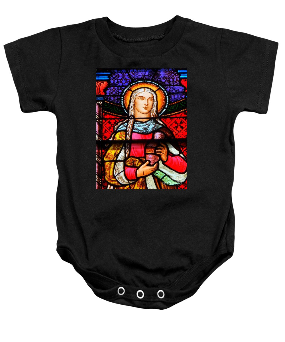 Stained Glass Baby Onesie featuring the photograph Woman In Braids by Ed Weidman