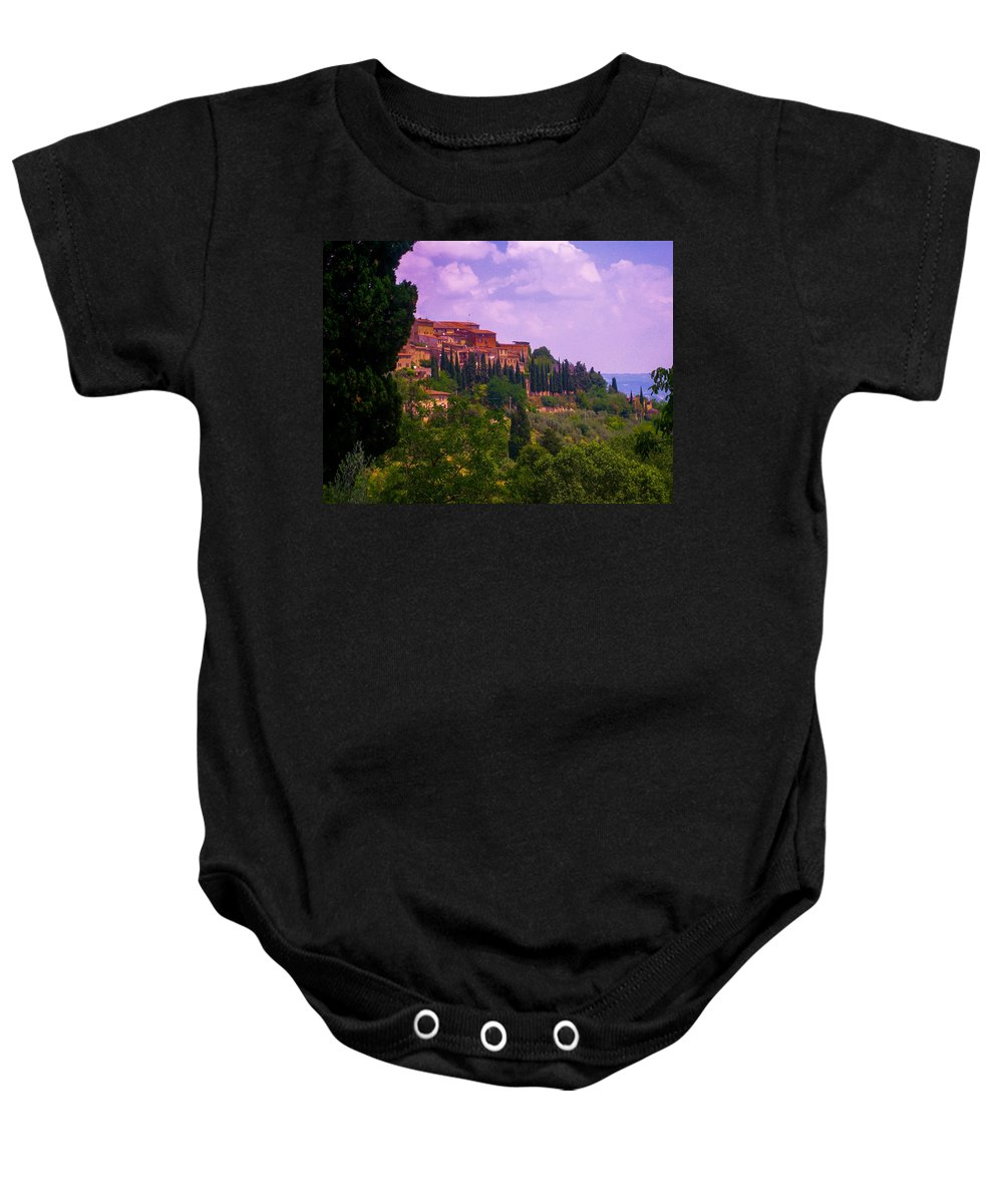Tuscany Baby Onesie featuring the photograph Wonderful Tuscany by Dany Lison