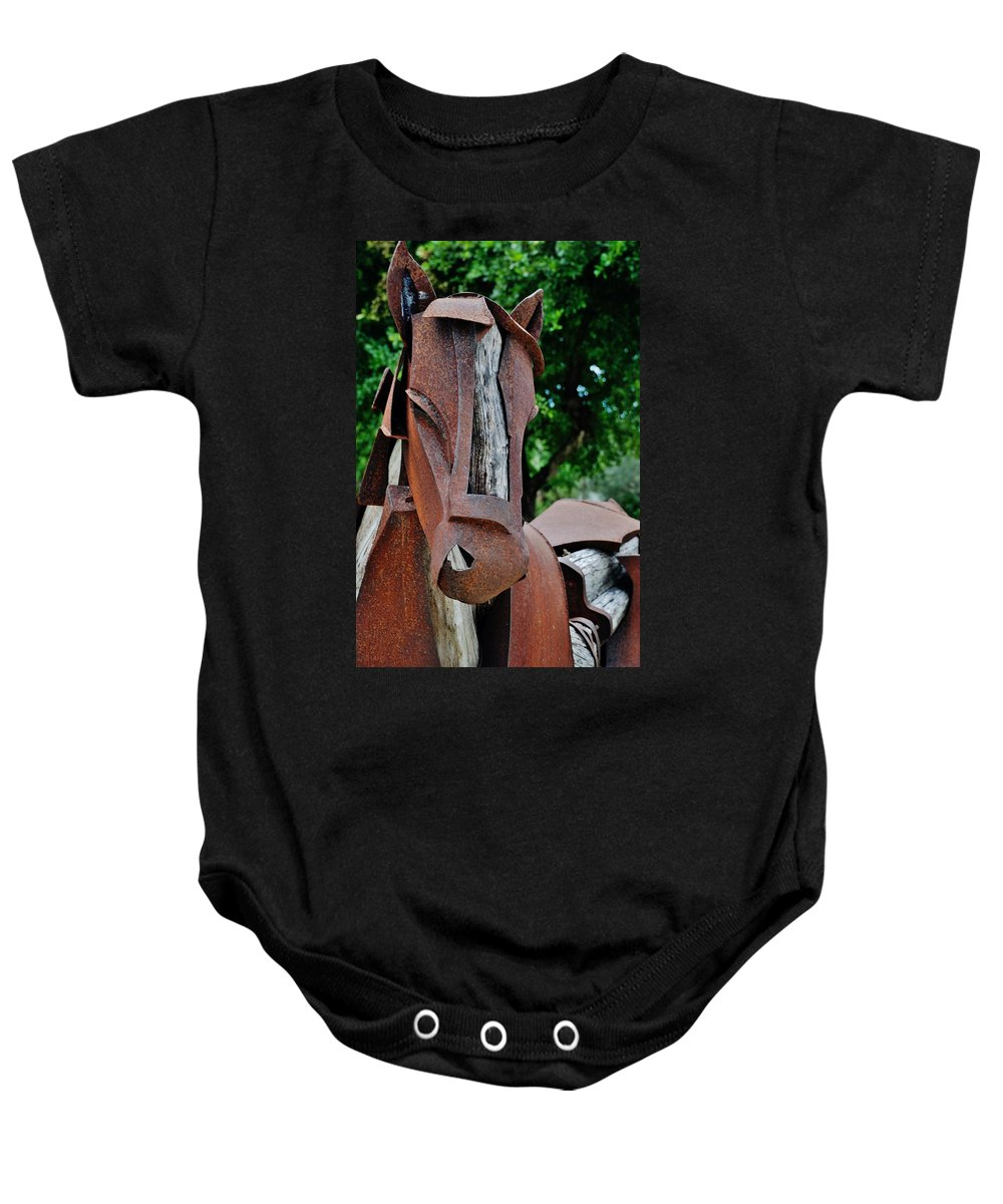 Horse Baby Onesie featuring the photograph Wooden Horse15 by Rob Hans
