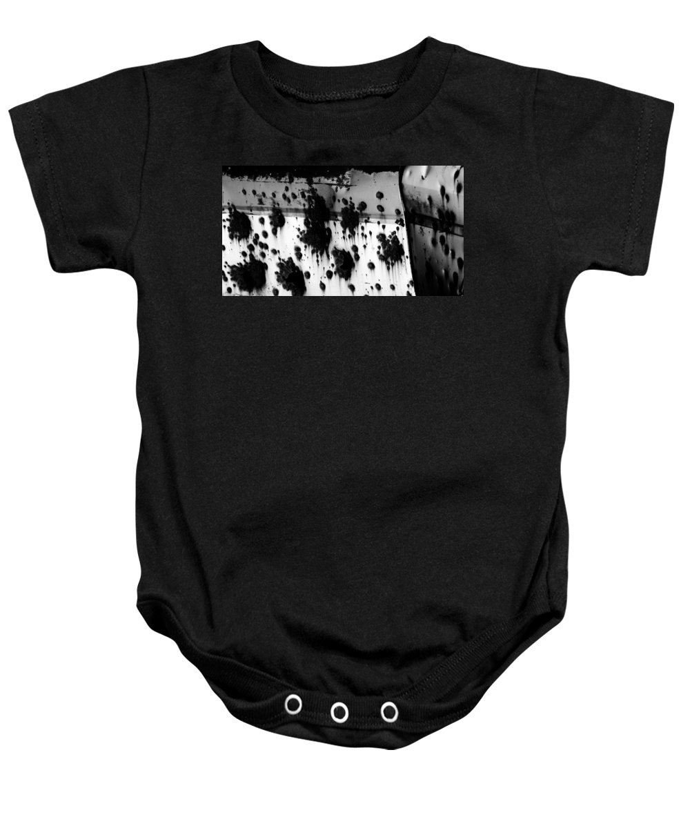 Black Baby Onesie featuring the photograph Wounds That Wont Heal by Jessica Shelton