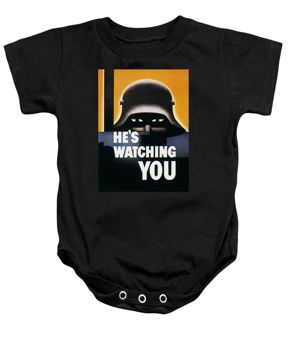 1942 Baby Onesie featuring the photograph Wwii: Propaganda Poster by Granger