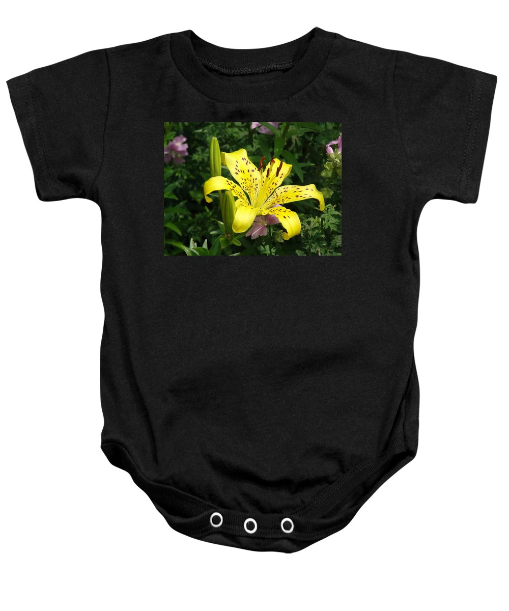 Plant Baby Onesie featuring the photograph Yellow Blossom by Ian Mcadie