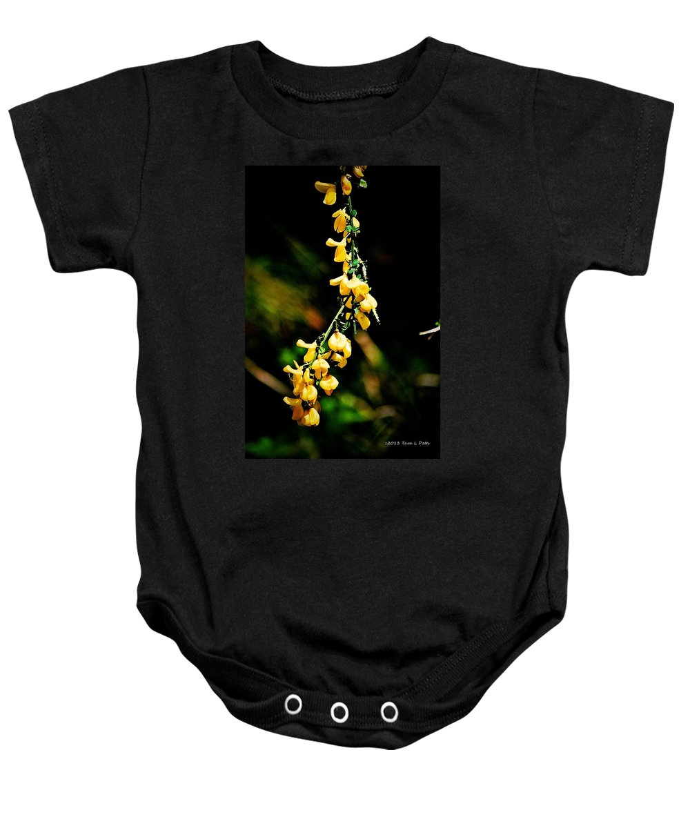 Yellow Baby Onesie featuring the photograph Yellow Blossoms by Tara Potts