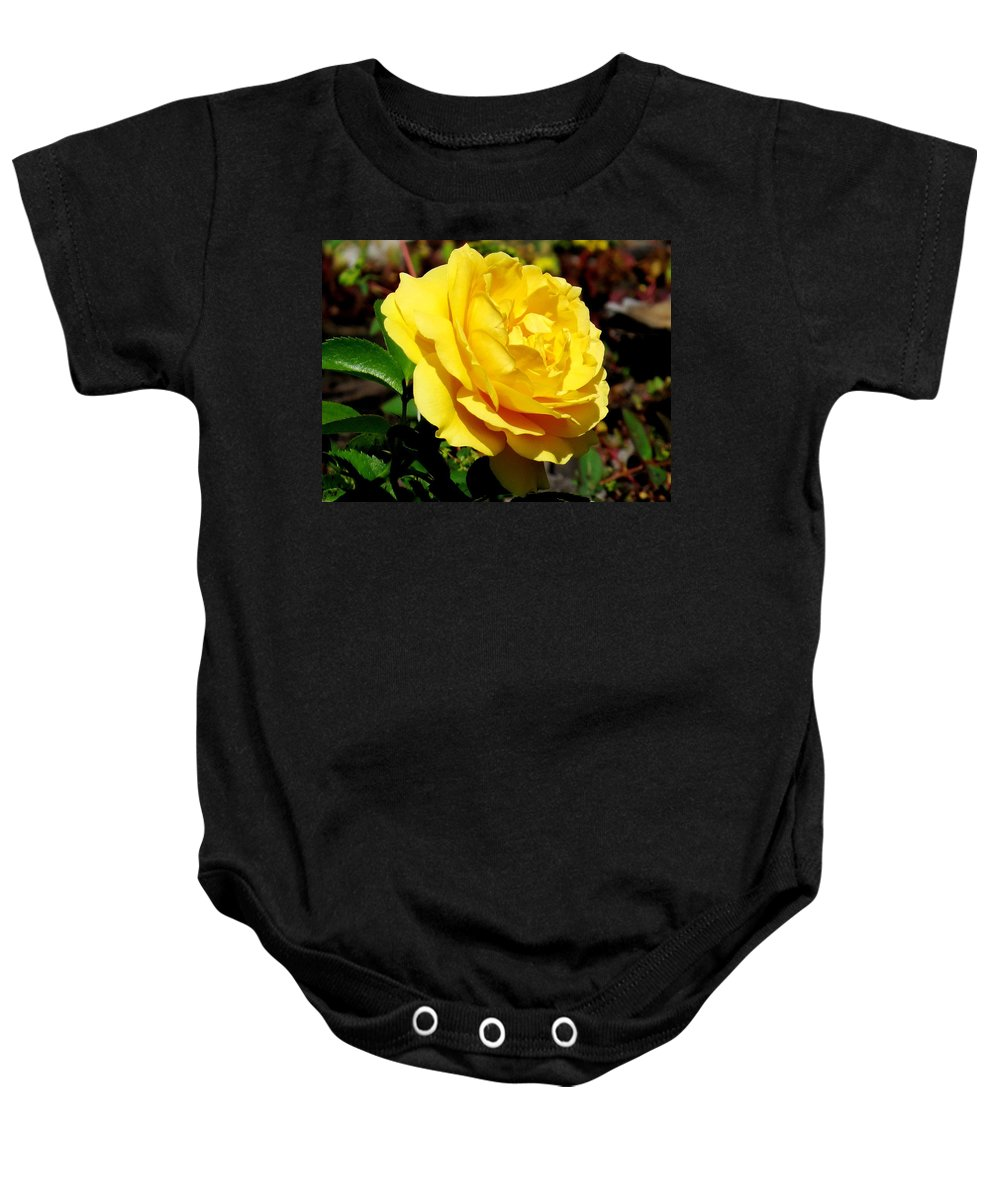 Floral Baby Onesie featuring the photograph Yellow Rose IIi by Zina Stromberg