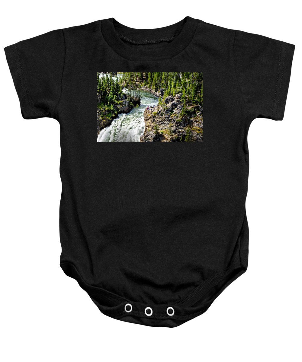 Yellowstone National Park Baby Onesie featuring the photograph Yellowstone - Upper Falls by Jon Berghoff