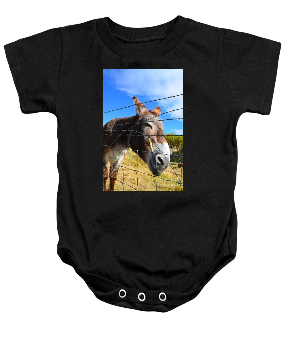 Abstract Baby Onesie featuring the photograph Yuckin It Up by Lauren Leigh Hunter Fine Art Photography