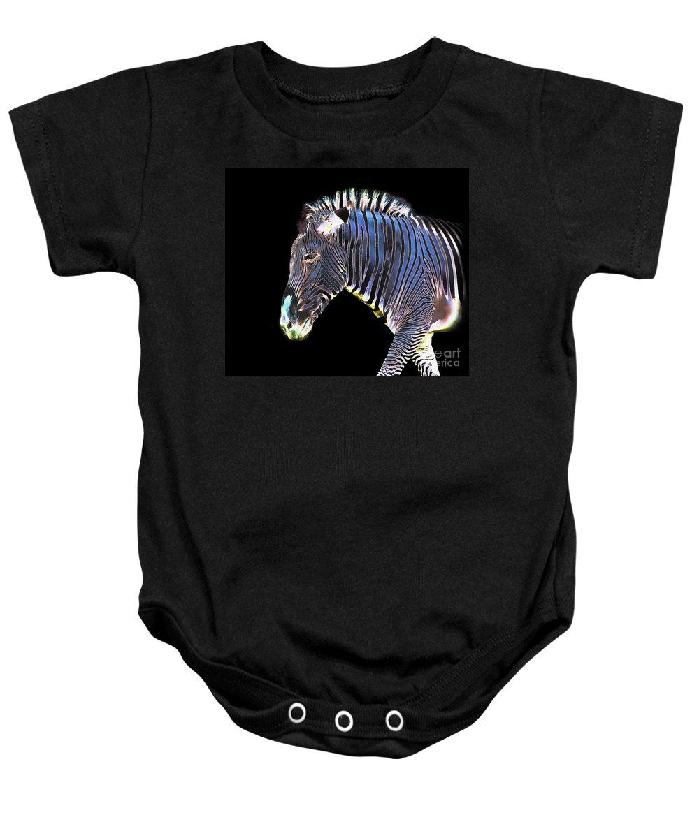 Zebra Baby Onesie featuring the photograph Zephyrus Zebra II by Sheila Laurens
