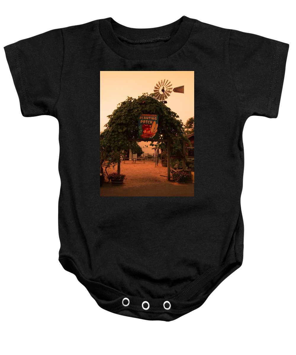 Planting Patch Arch Baby Onesie featuring the photograph Ivy Planting Patch Arch by Kym Backland