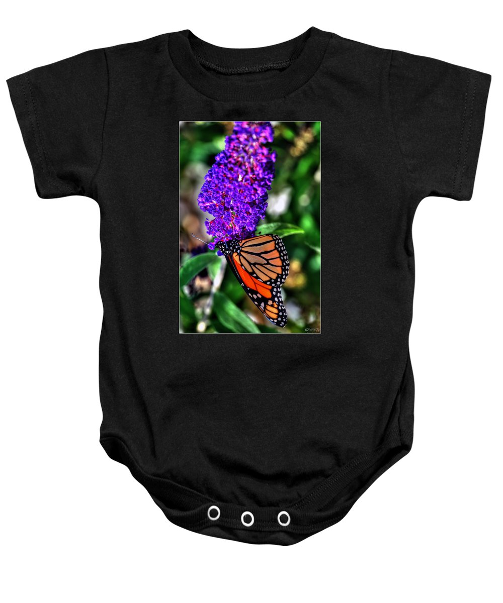 Baby Onesie featuring the photograph 015 Making Things New Via The Butterfly Series by Michael Frank Jr