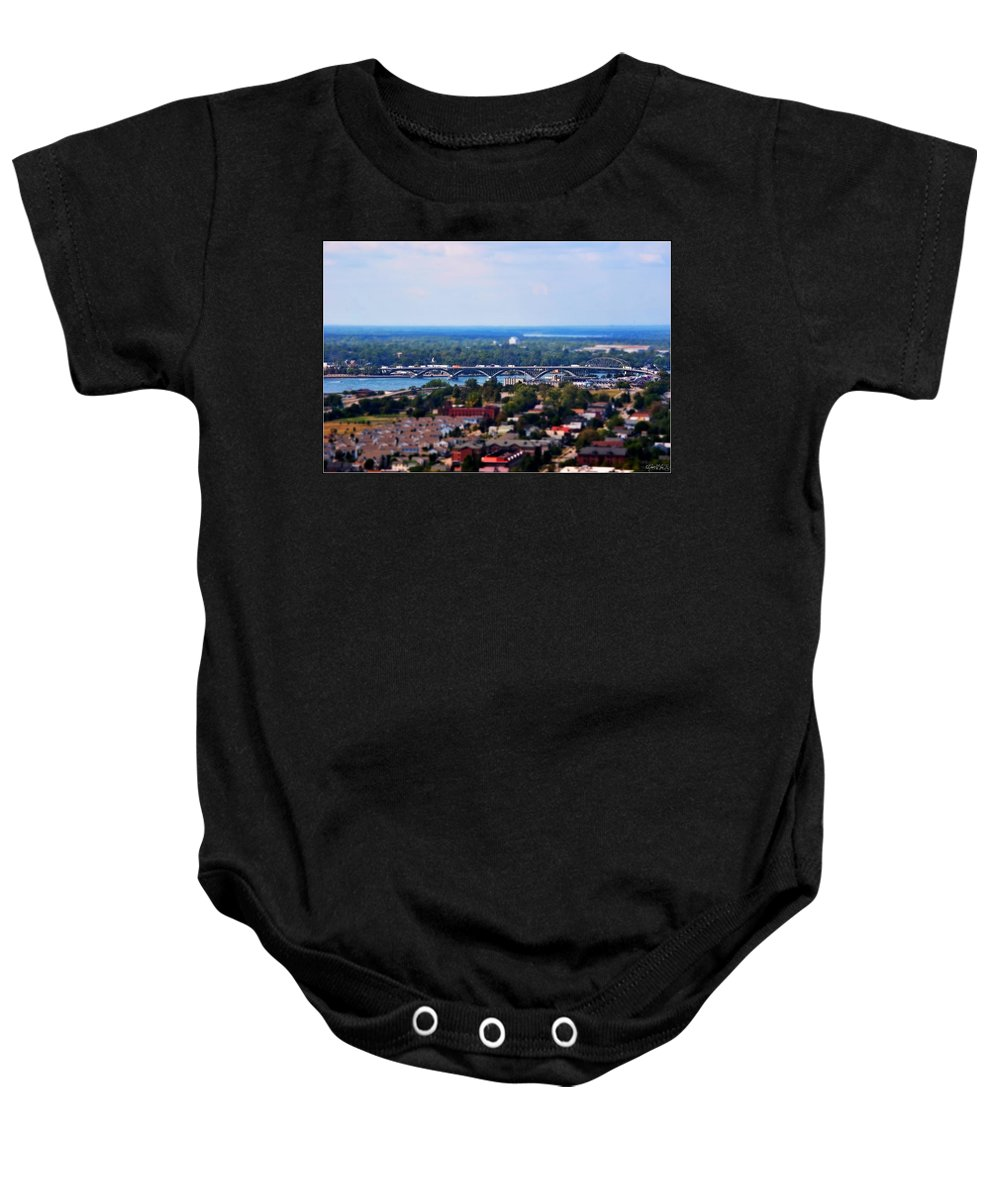 Baby Onesie featuring the photograph 02 Toy Peace Bridge by Michael Frank Jr