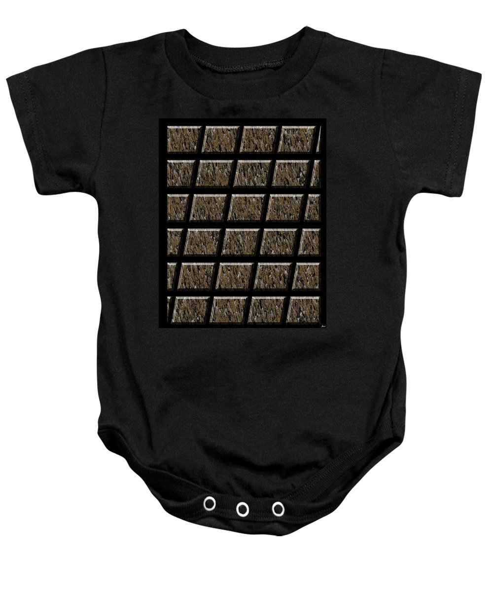 Abstract Baby Onesie featuring the digital art 0577 Abstract Thought by Chowdary V Arikatla