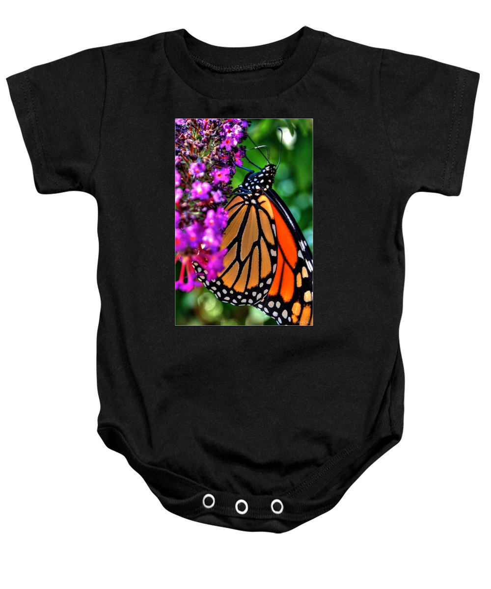 Baby Onesie featuring the photograph 007 Making Things New Via The Butterfly Series by Michael Frank Jr
