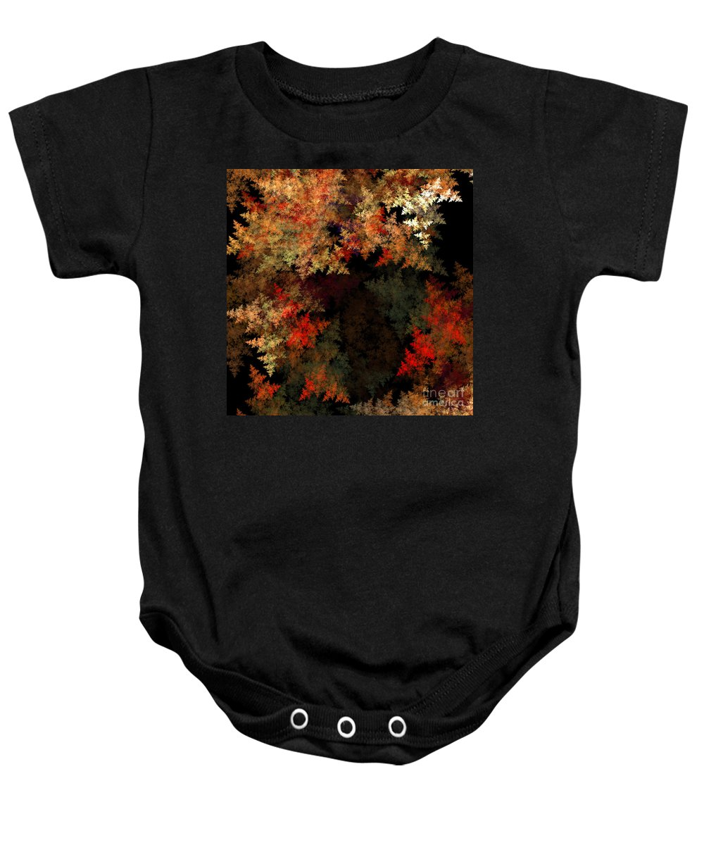 Fractal Digital Art Baby Onesie featuring the photograph Abstract 179 by Mike Nellums