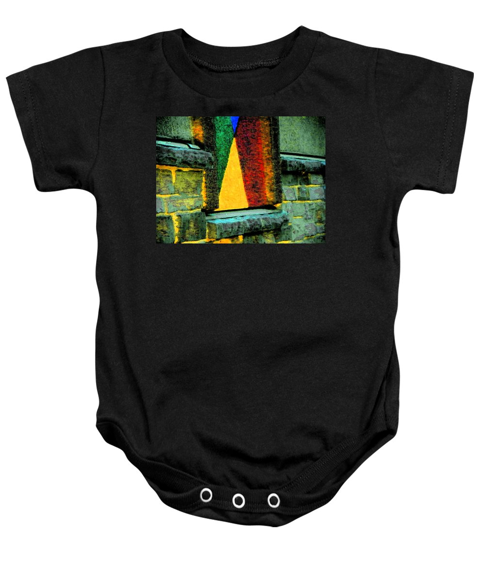 Abstract Baby Onesie featuring the photograph Abstract Wall by Lenore Senior