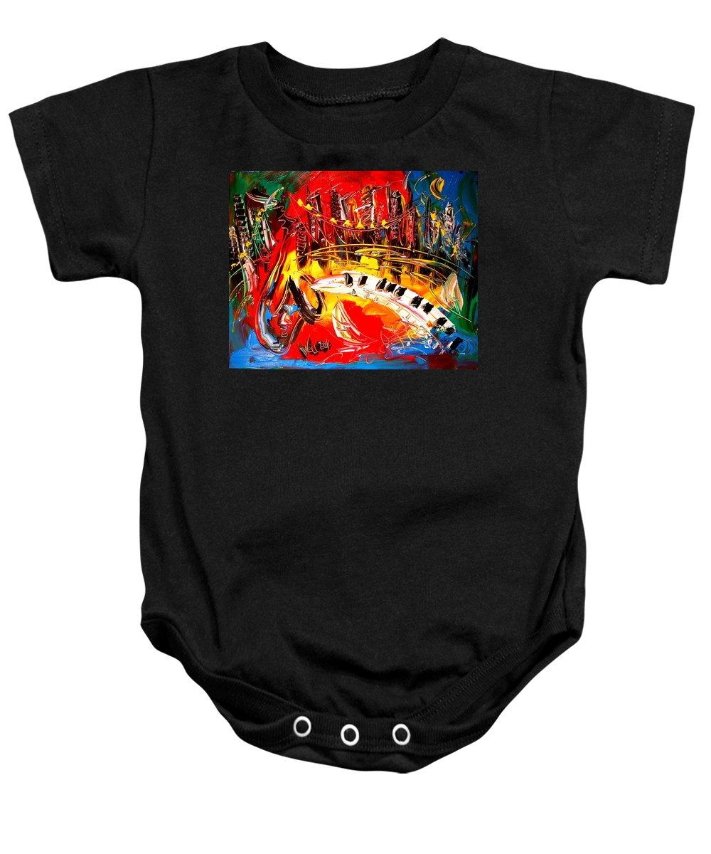 Baby Onesie featuring the painting America by Mark Kazav