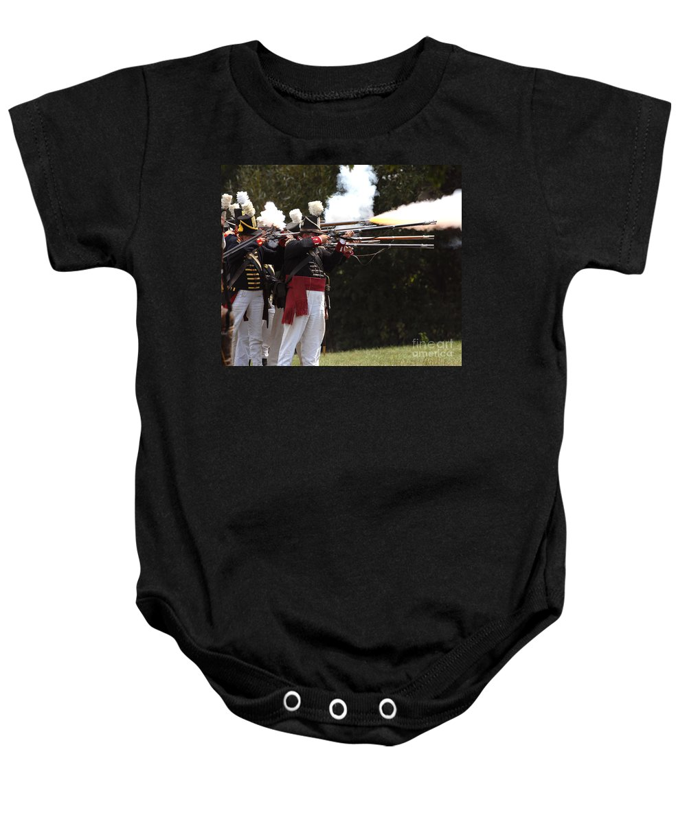American Baby Onesie featuring the photograph American Firing Line by JT Lewis