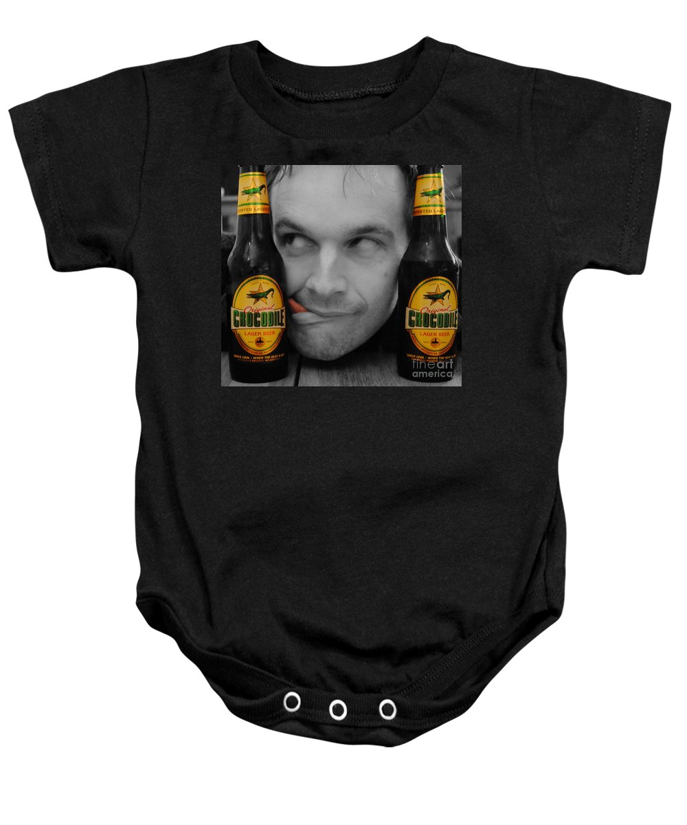 Beer Baby Onesie featuring the photograph Beer Monster by Rob Hawkins