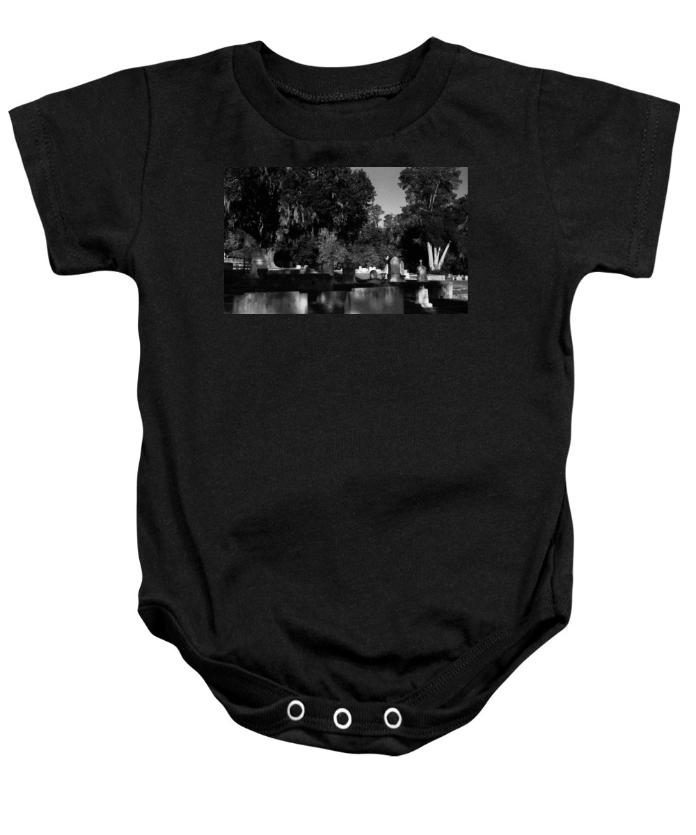 Louisiana Baby Onesie featuring the photograph Cemetery Natchez Mississippi by Doug Duffey