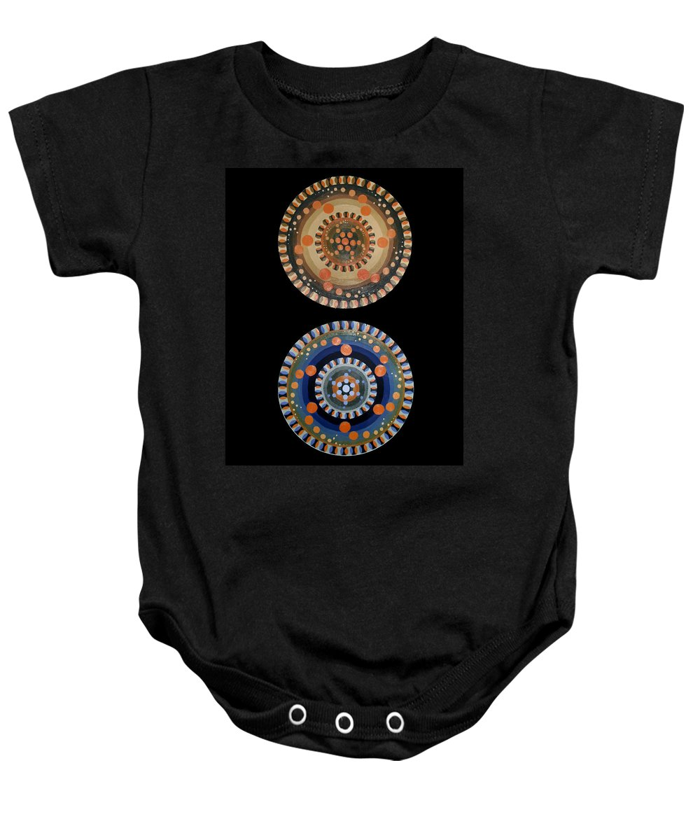 Baby Onesie featuring the painting Circles by Kate Fortin