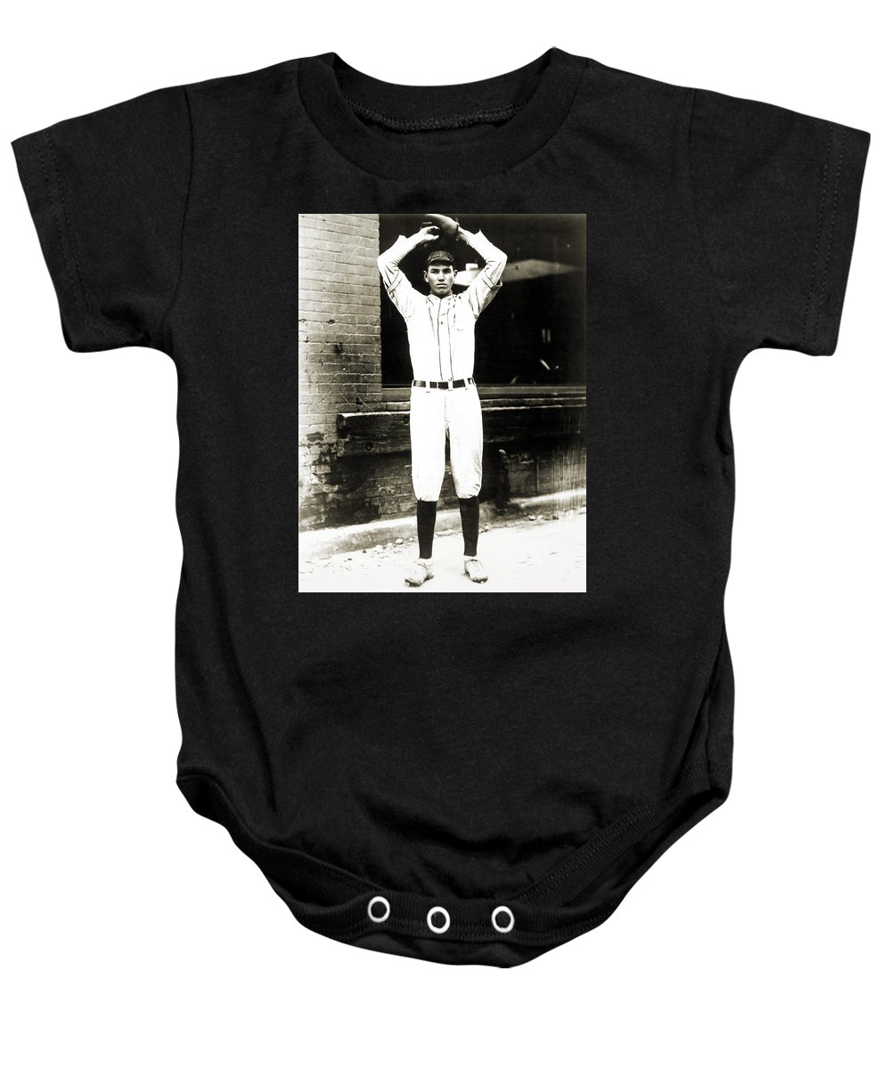 1920s Baby Onesie featuring the photograph Dizzy Dean (1911-1974) by Granger