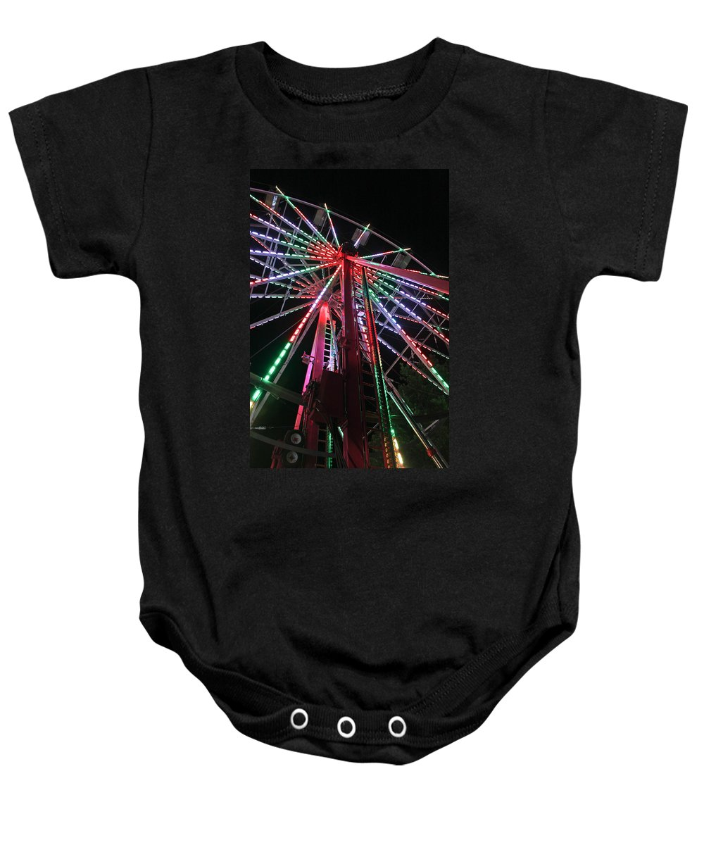 Ferris Wheel Baby Onesie featuring the photograph Ferris Wheel by Lauri Novak
