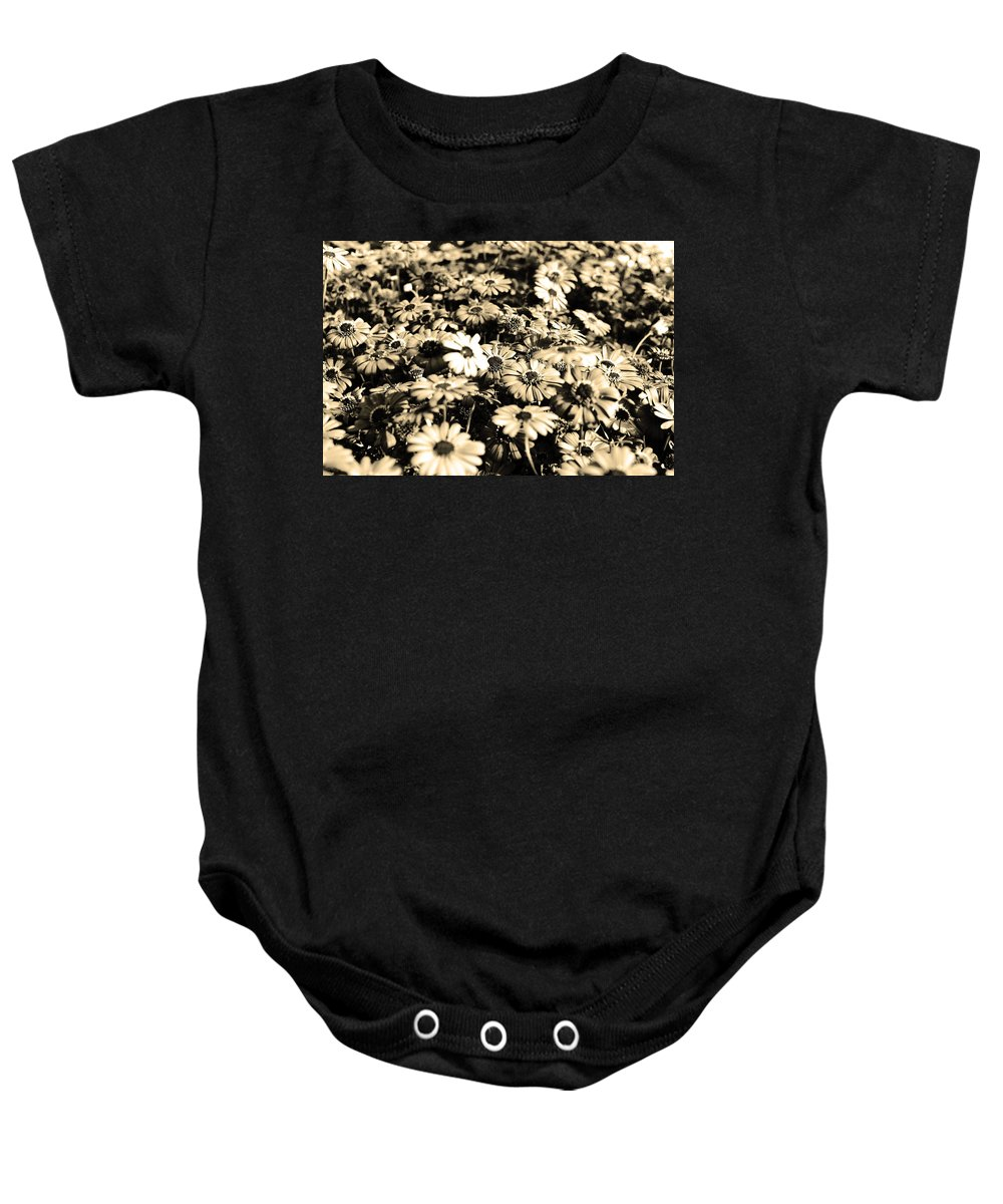 Flowers Baby Onesie featuring the photograph Flowers In Sepia Tone by Sumit Mehndiratta