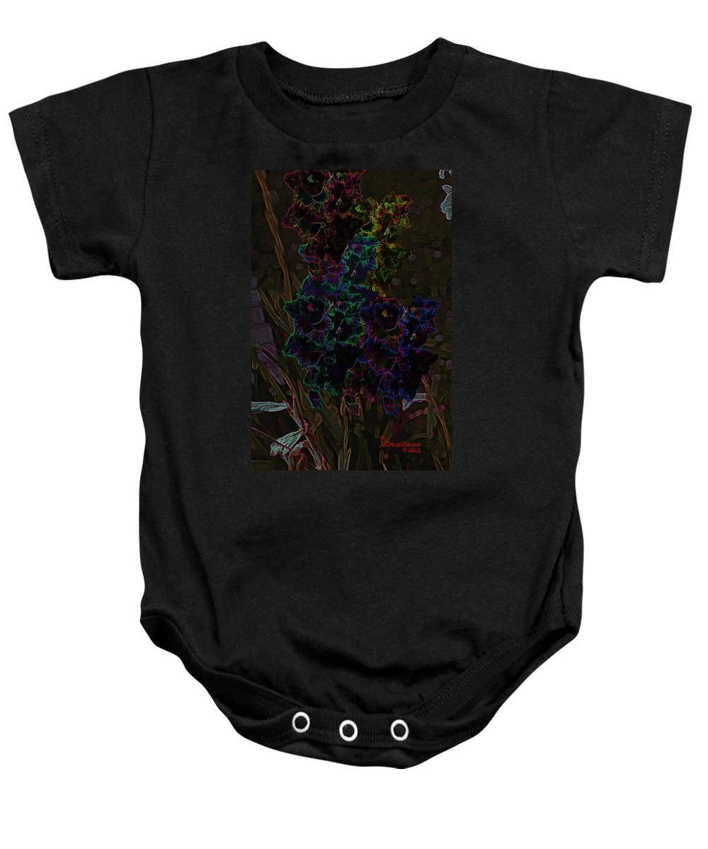 Flower Baby Onesie featuring the photograph Gladiolus by Ericamaxine Price