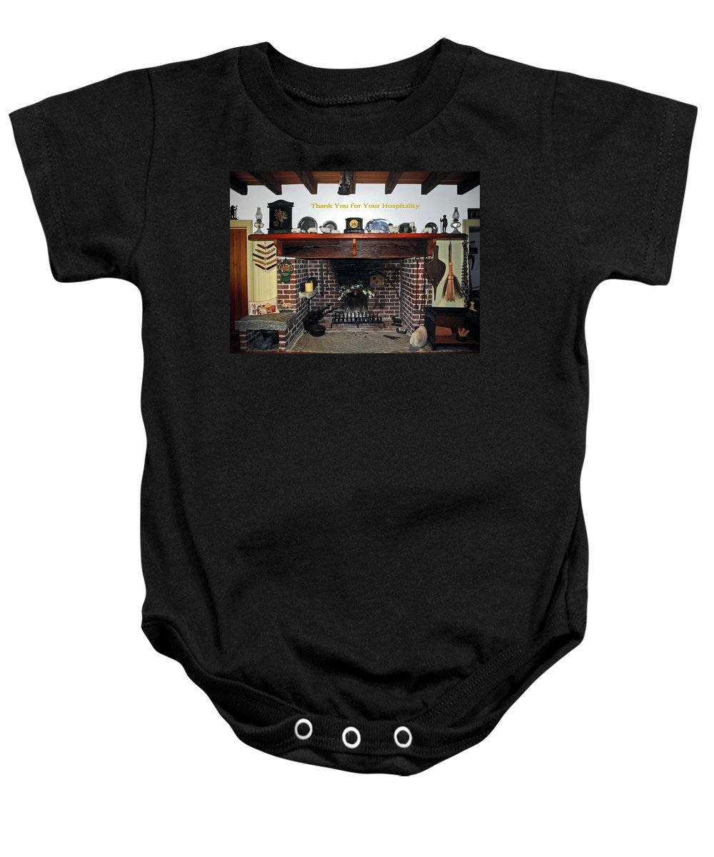 Thank You Baby Onesie featuring the photograph Hospitality by Sally Weigand
